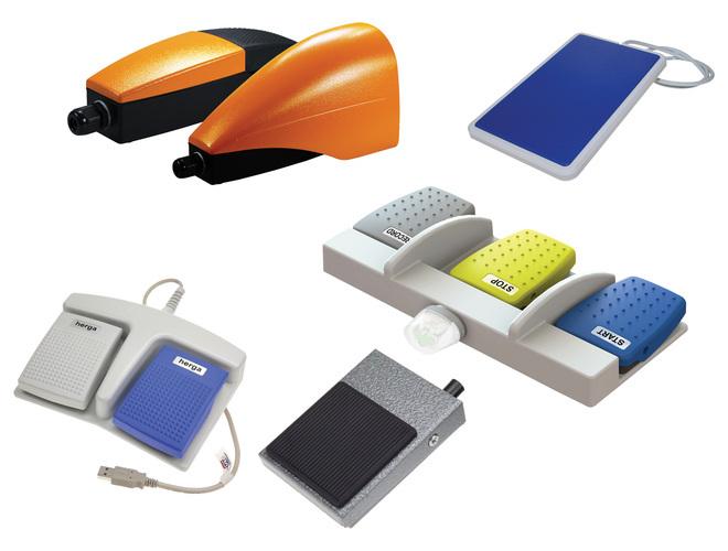 commande au pied pour milieux medical et industrielle. interrupteur electrique ou pneumatique.