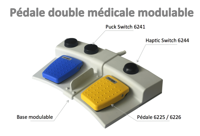 pedale double medicale modulable