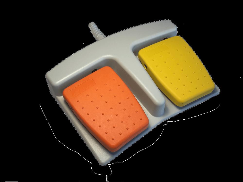 pedale orange jaune 6226