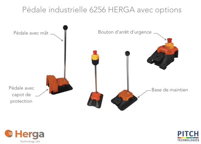 pedale industrielle herga pitch technologies 6256