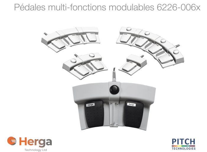 Pedales multi-fonctions modulables 6226-006x
