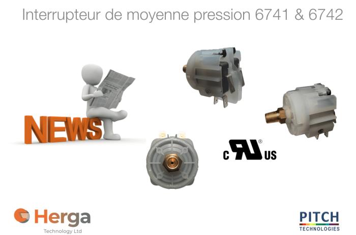 Interrupteur de moyenne pression 6741 6742