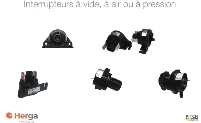Interrupteurs à vide, à air ou à pression