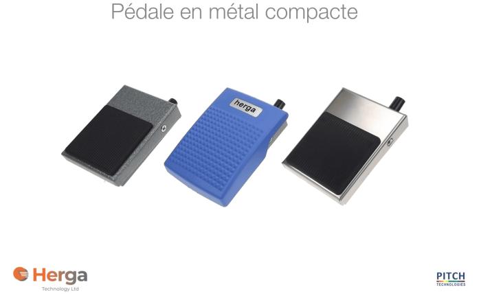 pedale compacte en metal pour industrie et medical